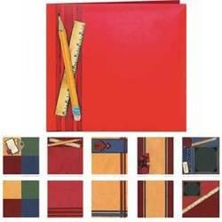 School - Provo Craft Premade 8x8 Scrapbook Album