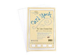 """Whtie Linen Only - Card Stacks 5.5"""" x 8.5"""" - Die Cuts with a View"""