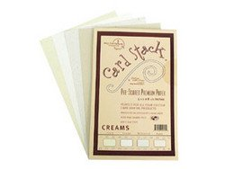 "Creams - Card Stacks 5.5"" x 8.5"" - Die Cuts with a View"