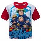 Cartoon Fireman Sam Kids Girls Boys Short Sleeve T-shirt