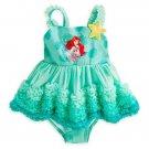 Cute the Little Mermaid Girl Baby Dress Swimsuit Beach Fashion Swimwear