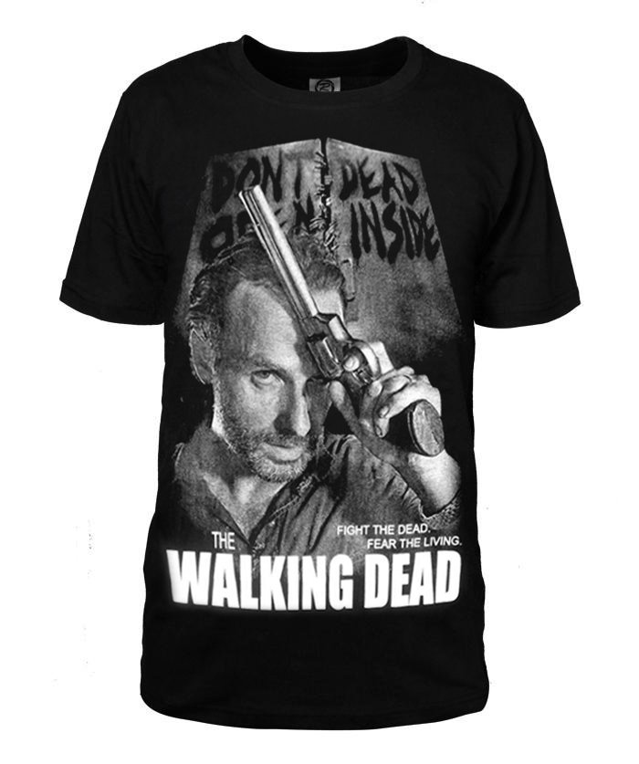 The walking Dead Rick Printing Cotton Short Sleeves T-shirt