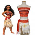 Movie Moana Cosplay Costume Moana Waialiki Girls Cosplay Princess Dress