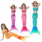 Swimmable Mermaid Tail Costume for Kids Girls Children The mermaid tails Swimsuit