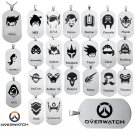Game Overwatch LOGO choker necklace OW heros alloy Pendant Necklaces 23 styles