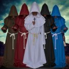Halloween Cosplay Costume Medieval Cloack Cape clergy Witcher pastor Clothing