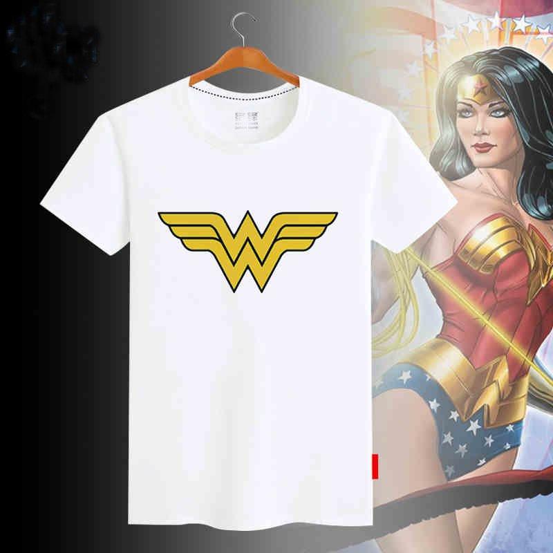 Comic Wonder Woman Printed T-Shirt Women Summer Princess T Shirt Lady Short Sleeves top Tee