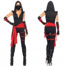 Masked Girl Black Ninja Costumes Classic Halloween Cosplay Costume  Sexy Outfit Clothing