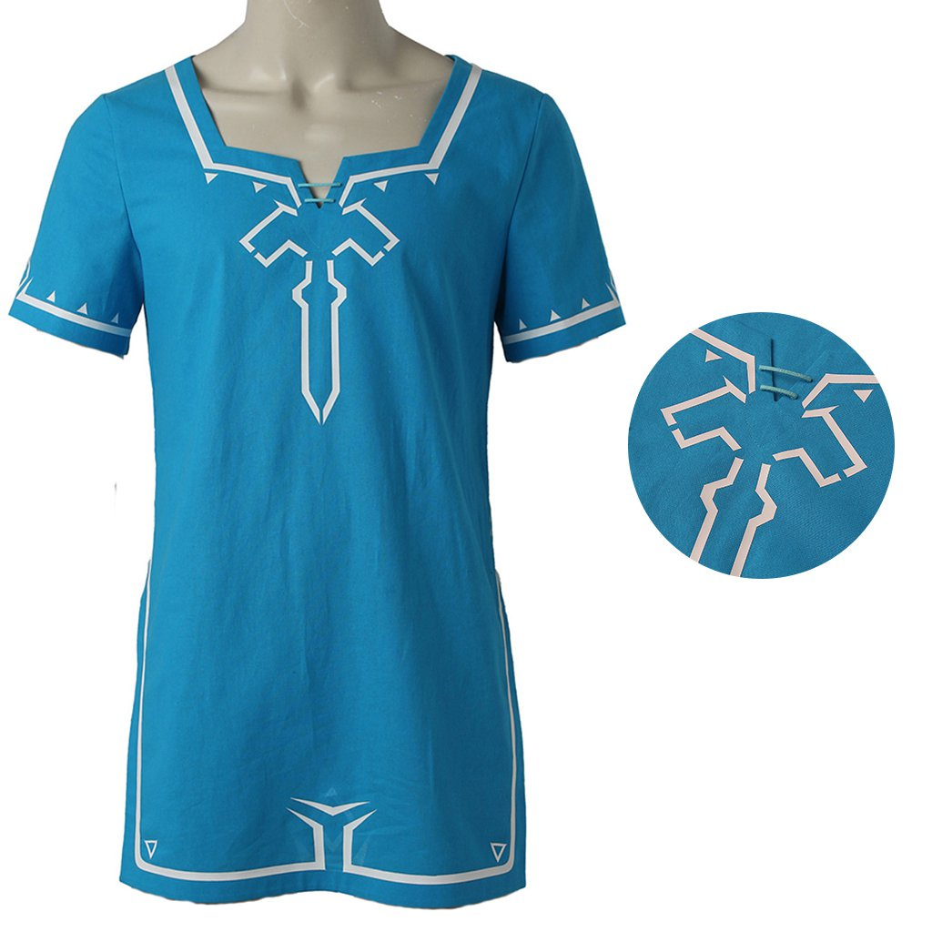 The Legend of Zelda Breath of the Wild Link T shirt Halloween Cosplay Costume Customized