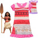 2017 Brand Summer Moana Dress Children Dresses For Girls Princess Dress Cosplay Clothes