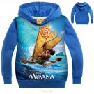 Moana Pringting Hoodies Sweatshirt Gilrs Boys Kids Top Clothing Coat