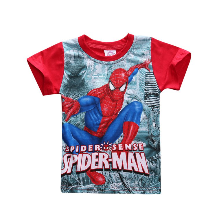 Spider man:Homecoming Cosplay T-shirt Child Kids Summer Tee shirts Spiderman Printed Clothing
