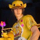 Final Fantasy XV Noctis Lucis Caelum Cosplay T-shirt&Hat FF15 Moogle Chocobo Costume Accessories