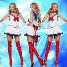 Women Girls Sexy Sailor Moon Cosplay Costume Halloween Game Stage Bar Costume Sailor Suit