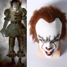 Stephen King's It Pennywise Clown Joker Mask Tim Curry Horrible Mask Cosplay Prop Clown Latex Mask