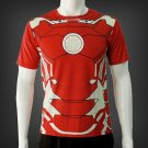 Iron man 3D Printed T shirts Men Compression Shirt short Sleeve Tops Male Crossfit Fitness Cloth