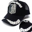 Black Anime Attack on Titan Adjustable baseball cap snapback men women hip hop cap sun hat