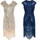 Great Gatsby Dress Women Sequins Dress Art Deco Damper Dress 1920 s Vintage Ballroom Dresses