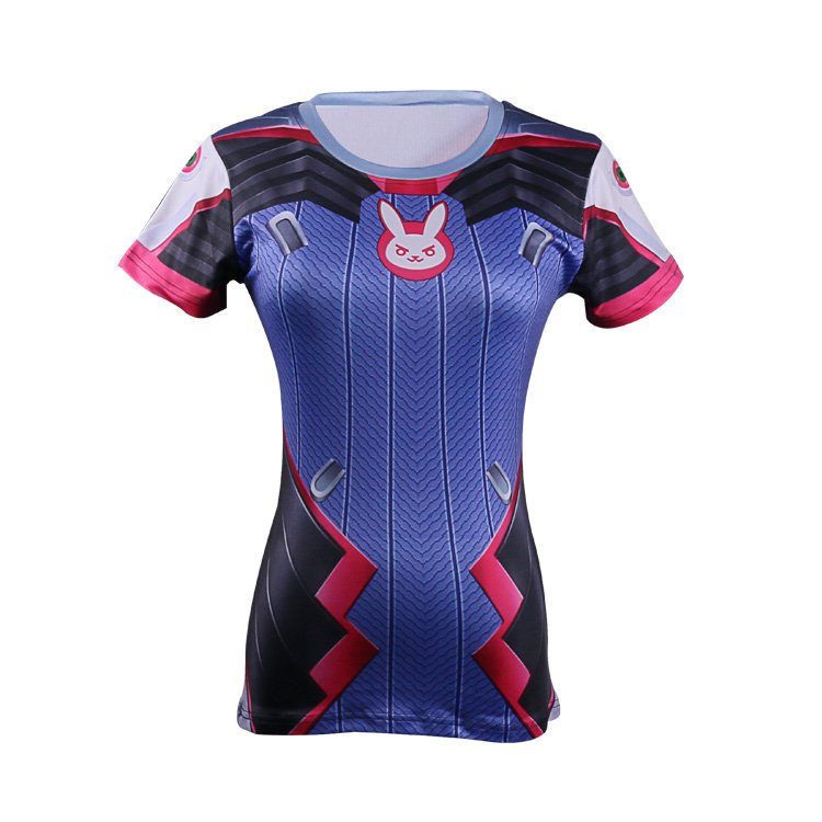 Game overwatch dva women t shirt 3d printing acg fans tee for Drop ship t shirt printing