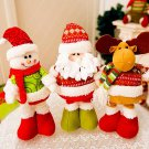 Retractable Christmas Santa Claus/Snowman Dolls Ornaments Kids Christmas Gifts Toy