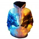 Wolf Printed Hoodies Men 3D Sweatshirt Plus size Pullover Novelty Streetwear Hooded Jacket