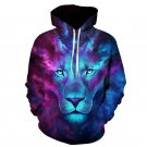 Lion Printed Hoodies Men 3D Sweatshirt Plus size Pullover Novelty Streetwear Hooded Jacket