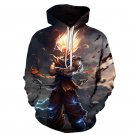 Dragon Ball Z Pocket Hooded Sweatshirts Goku 3D Hoodies Pullovers Long Sleeve Outerwear Hoodie