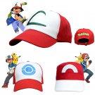 Anime Pocket Monster Pokemon Trainer Ash Ketchum Baseball Cap Cosplay Hat dropshipping