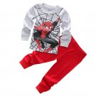 Children Long Sleeve Spiderman Homecoming Pajamas Girl Boys Superman Sleepwear