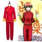 Anime Gintama Kagura Cosplay Costume Women Long Sleeves the Two-piece Set Kimono Uniform Suit
