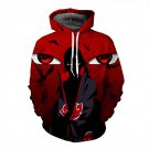 Anime Naruto Cartoon Hoodie Sweatshirts Itachi 3D Print Pullovers Loose Long Sleeve Outerwear