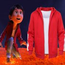 Anime Moive Coco Miguel Cosplay Costumes Adults Jackets Hoodies Red Sweatshirts Coat