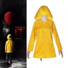 Stephen King's It Georgie Denbrough Raincoat Cosplay Costume IT Yellow Jacket hooded Suit
