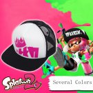 Splatoon 2 King Flip Mesh Caps Adjustable Baseball Cap Halloween Costume Hat Accessories