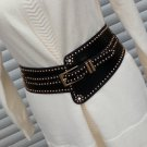 Female Waist Wide Corset Retro Casual Corset Elastic Bandage RIvet Waist Wide Belt