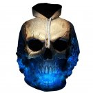3D Cool Skull Print Men Women Tops Hoodies Shirts Casual Long Sleeves Sweatshirts Pullovers