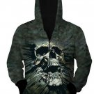 Skull Zip-Up Hoodie Women Men 3D  Print Pullovers Hoodies Funny Printed Sweatshirt Tops