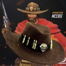 OverWatch Mccree Hat Jesse McCree Cosplay Costume Cowboy Brown Hat Knight Hat
