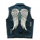 The Walking Dead Daryl Dixon Angle Wings Vest Men's Motorcycle Biker Jeans Sleeveless Jacket