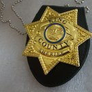 The Walking Dead Badge Brooch Pin Five-star King County Sheriff Letter Rickgrimes Cosplay Props