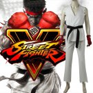 Street Fighter V Ryu Cosplay Costume Carnival Halloween Game Boxing White Suit