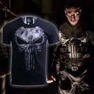 The Punisher T Shirt Men Streetwear Tops Skull Fashion Short Sleeve Cotton Cosplay Costume