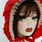 Little Red Riding Hood Hat Falbala Topee Women Victorian Red Medieval Hats