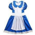 Alice in Wonderland Kids Girls Lolita Dress Maid Cosplay Costume