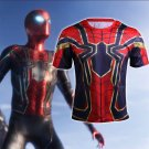 The Avengers 3 Iron Spider Spider-Man Costume 3D Print Compression Crossfit T-shirts