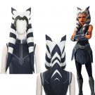 Ahsoka Tano Cosplay Outfit Stripes Headgear The Clone Wars S.E. 7 Ahsoka Costume Halloween Accessory