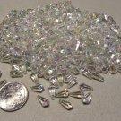 Lot of Plastic Aurora Borealis Teardrop Beads