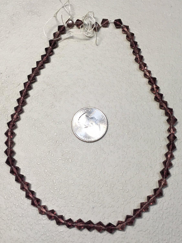 Amethyst Glass Strand of Beads