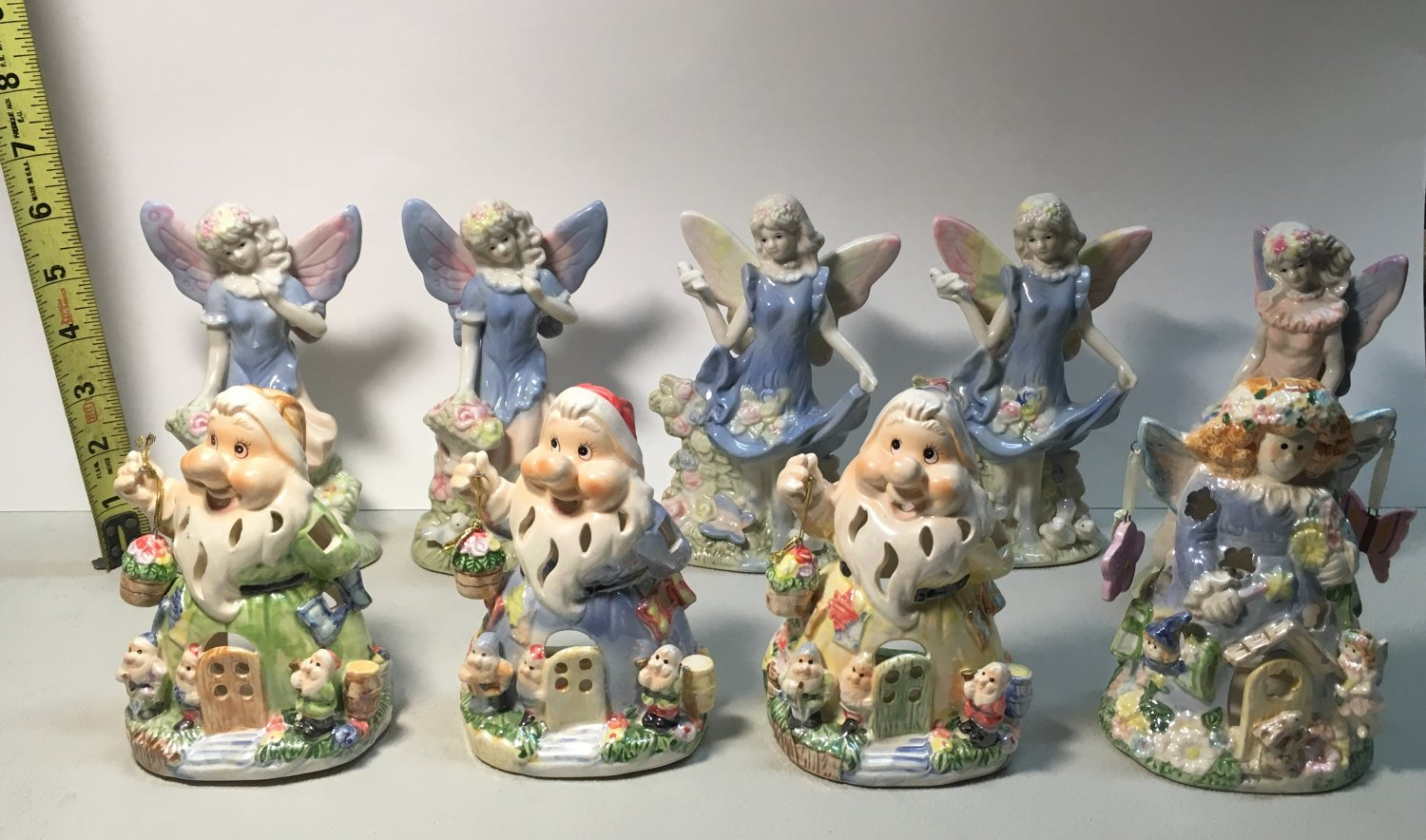 Lot of Nine Glass Figurines