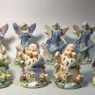 Lot of Nine Glass Figurines